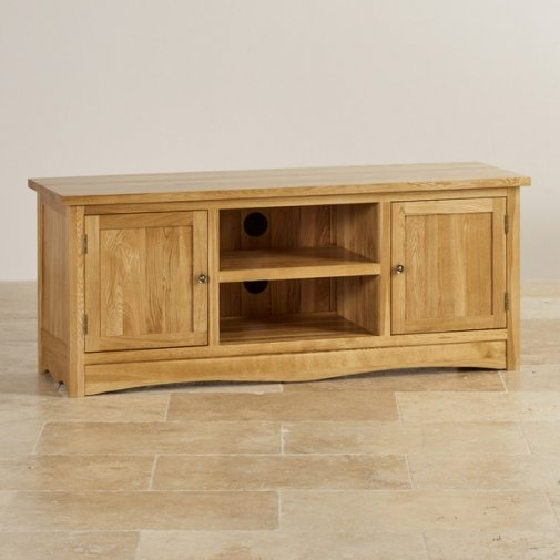 Brilliant Favorite Solid Oak TV Cabinets Intended For Tv Cabinets Units 100 Solid Hardwood Oak Furniture Land (View 10 of 50)