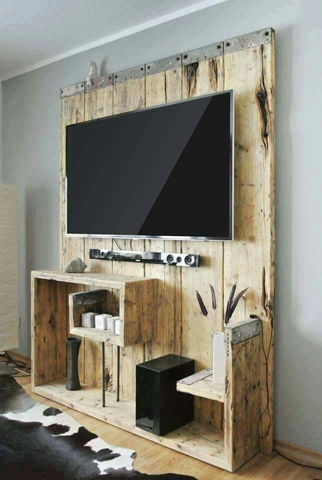 Brilliant Favorite Wall Mounted TV Stands Entertainment Consoles Throughout 25 Best Rustic Tv Stands Ideas On Pinterest Tv Stand Decor (View 26 of 50)