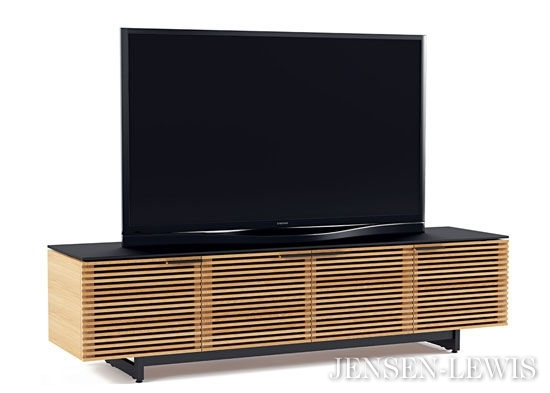 Brilliant Favorite Wide TV Cabinets Pertaining To Bdi Corridor Wide Low Tv Cabinet 8173 Jensen Lewis New York (Image 11 of 50)
