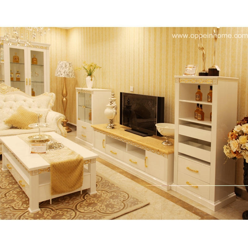 Brilliant Favorite Wooden TV Cabinets Intended For China Oppein Modern White Wooden Furniture With Tv Cabinet (Image 11 of 50)