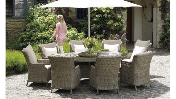 Brilliant Garden Dining Tables 8 Seater Set With Cushions Out And In Garden Dining Tables (Image 5 of 20)