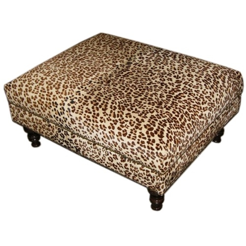 Brilliant High Quality Animal Print Ottoman Coffee Tables With Regard To Leopard Print Ottoman Coffee Table Ottoman Stools Gallery (Image 12 of 50)
