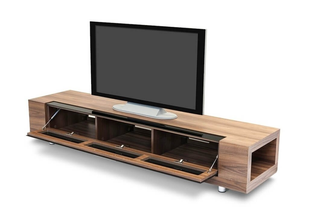 Brilliant High Quality Black Modern TV Stands With Regard To Furniture Enchanting White And Dark Oak Modern Tv Stands With (Image 8 of 50)