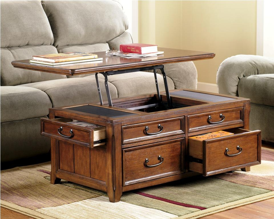 Brilliant High Quality Coffee Tables With Rising Top Pertaining To Plan Chest Coffee Table (Image 3 of 40)
