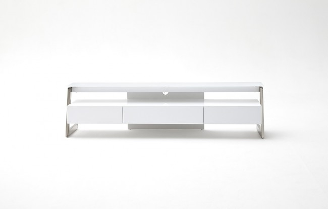 Brilliant High Quality Contemporary White TV Stands Regarding Neoteric High Gloss White Tv Stand Metal Legs Funiquecouk (View 38 of 50)