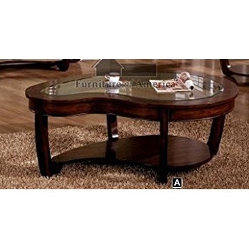 Brilliant High Quality Dark Coffee Tables Throughout Amazon Crystal Falls Dark Cherry Finish Glass Top Coffee (Image 11 of 50)