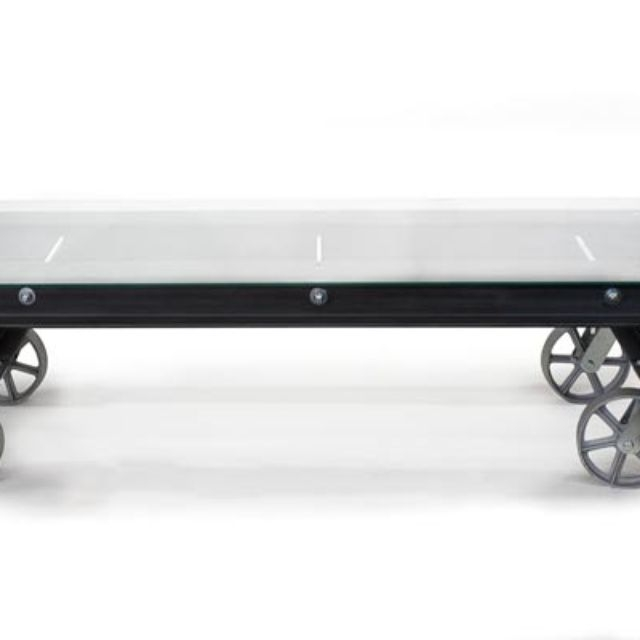 Brilliant High Quality Glass Coffee Tables With Casters For Industrial Coffee Tables Custommade (Image 12 of 50)