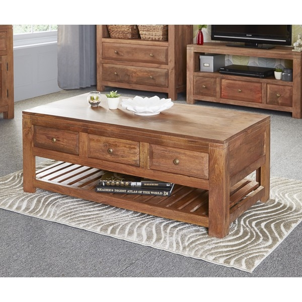 Brilliant High Quality Mango Wood Coffee Tables With Regard To Solid Wood Coffee Table (Image 9 of 50)