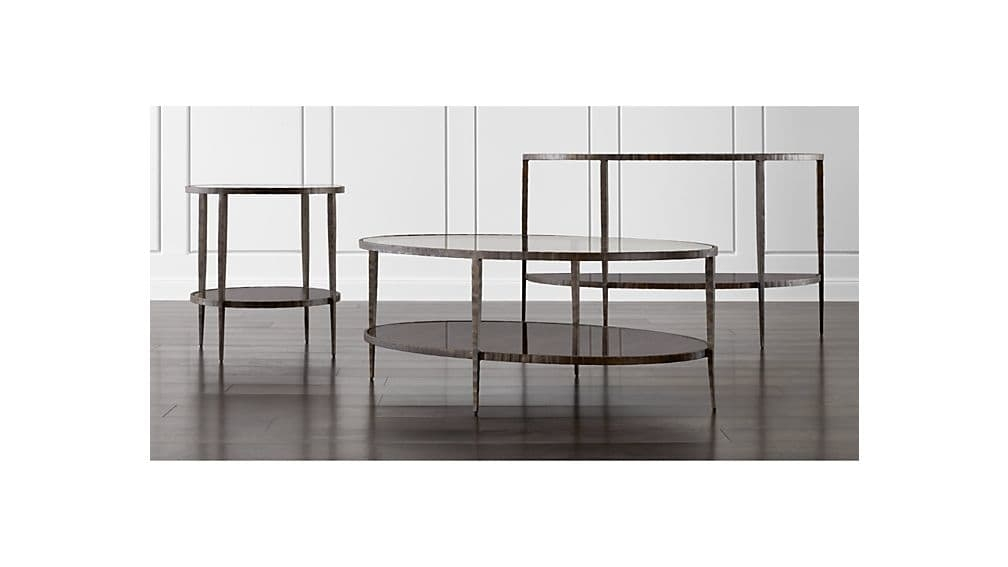Brilliant High Quality Metal Oval Coffee Tables With Clairemont Oval Coffee Table Crate And Barrel (Image 7 of 50)