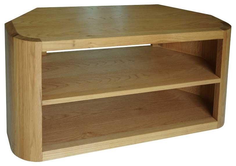 Brilliant High Quality Oak Corner TV Cabinets Throughout Oak Tv Corner Cabinet Bar Cabinet (Image 7 of 50)