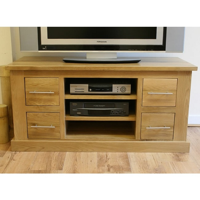 Brilliant High Quality Oak Furniture TV Stands With Delamere Oak Furniture Click Oak (View 12 of 50)
