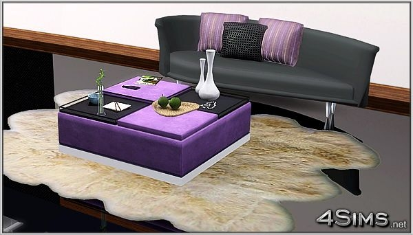 Brilliant High Quality Purple Ottoman Coffee Tables With Sims 3 Updates Downloads Objects Singleitems Page  (Image 6 of 40)