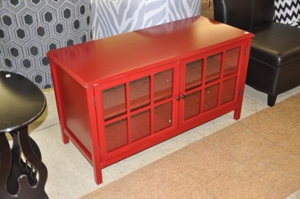 Brilliant High Quality Red TV Stands Intended For Windham Tv Stand Red Shop Checkouts (Image 9 of 50)