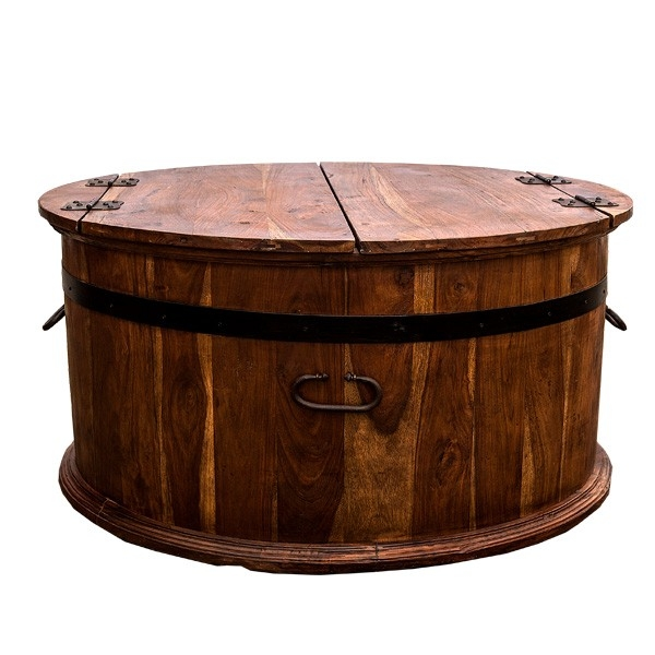 Brilliant High Quality Round Coffee Tables With Drawers Within Round Coffee Table Storage (Image 11 of 50)