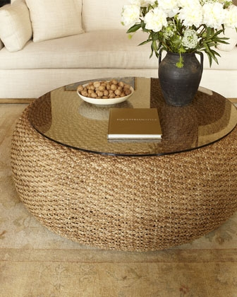 Brilliant High Quality Round Woven Coffee Tables Pertaining To Table Woven Coffee Table Home Interior Design (Image 17 of 50)