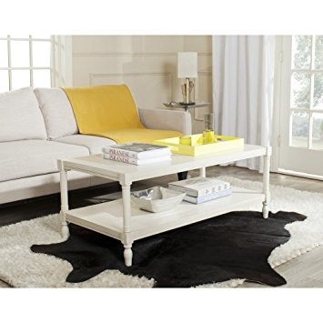 Brilliant High Quality Safavieh Coffee Tables Throughout Amazon Safavieh American Home Collection Bela White Coffee (Image 11 of 50)