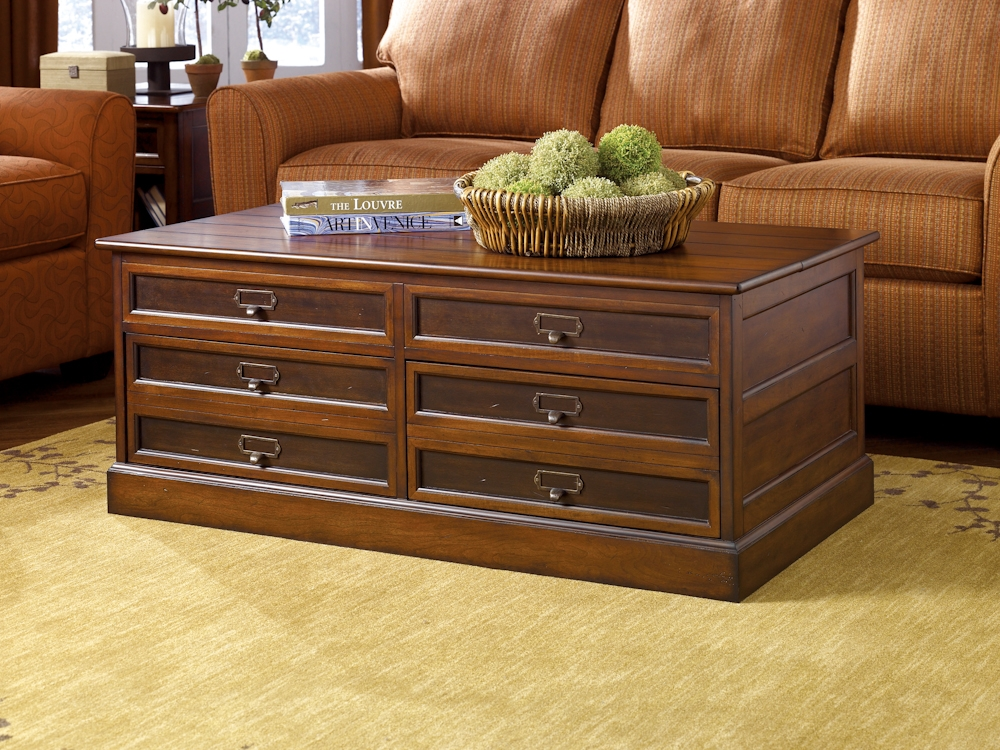Brilliant High Quality Solid Oak Coffee Table With Storage Inside Furniture Hammary Mercantile Rectangular Storage Chest Coffee (Image 6 of 50)