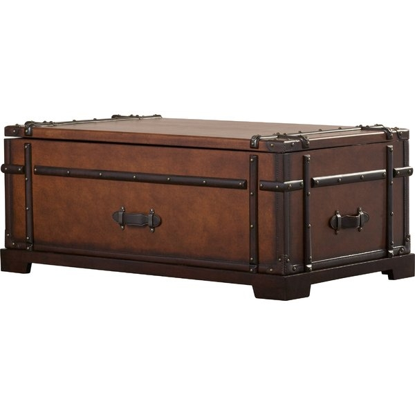Brilliant High Quality Trunk Chest Coffee Tables For Dar Home Co Delavan Coffee Table Trunk With Lift Top Reviews (View 24 of 50)