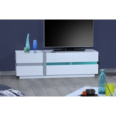 Brilliant High Quality TV Stands With LED Lights Throughout Cross White Tv Stand With Led Lights Tv Stands Sena Home (Image 8 of 50)
