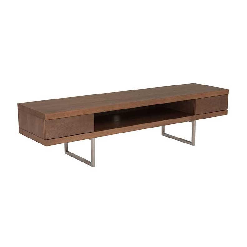 Brilliant High Quality Walnut TV Stands Regarding Miranda Modern Tv Stand Walnut (View 19 of 50)