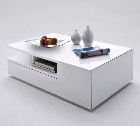 Brilliant High Quality White Coffee Tables With Storage Throughout Wide Designs Of White Coffee Table With Storage Homesfeed (View 4 of 50)