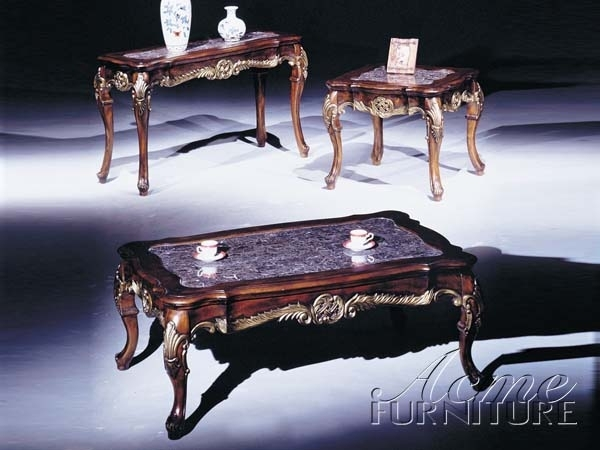 Brilliant Latest Bordeaux Coffee Tables In Bordeaux Marble Top Gold Brushed Coffee Table In Brown Finish (Image 13 of 50)