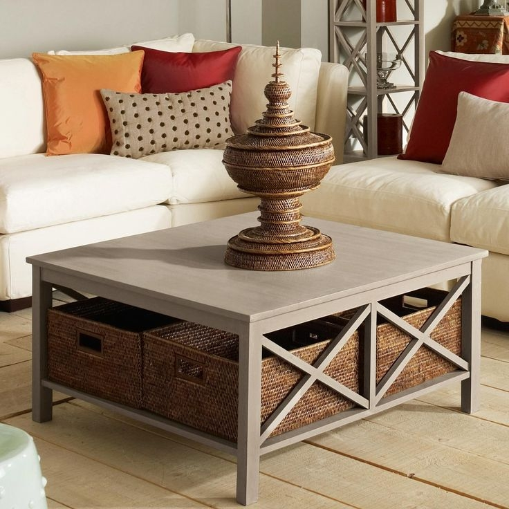 Brilliant Latest Coffee Table With Wicker Basket Storage With Regard To Best 25 Coffee Table With Storage Ideas Only On Pinterest (Image 10 of 40)