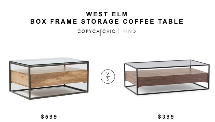 Brilliant Latest Coffee Tables With Box Storage With West Elm Box Frame Storage Coffee Table Copycatchic (Image 17 of 50)
