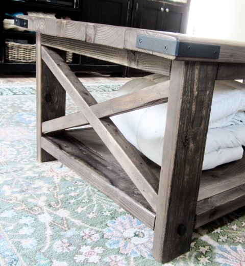 Brilliant Latest Corner Coffee Tables Intended For Ana White Rustic X Coffee Table Diy Projects (View 38 of 50)