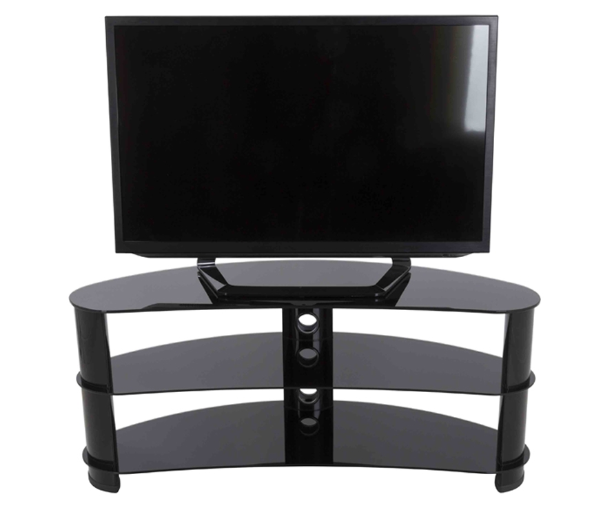 Brilliant Latest Curve TV Stands In Avf Black Curved Tv Stand For Tvs Up To 60 Fs1200curbb Tv (View 43 of 50)