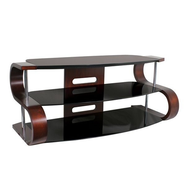 Brilliant Latest Dark Wood TV Stands Regarding 52in Metro Tv Stand Dark Wood Veneer Tv Stands (Image 9 of 50)