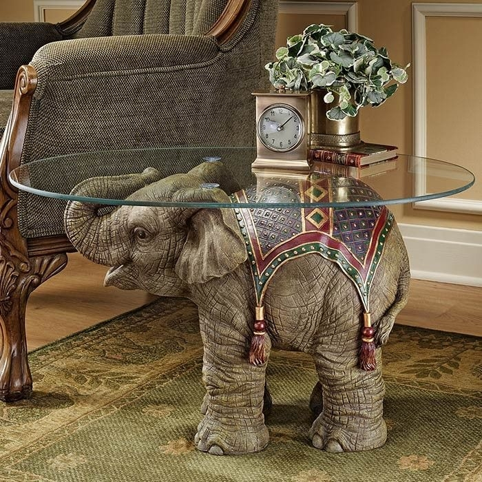 Brilliant Latest Elephant Coffee Tables With Glass Top Pertaining To 98 Best Elephants Furniture Images On Pinterest Elephant Stuff (Image 9 of 40)