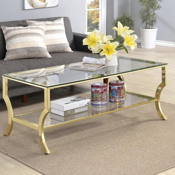 Brilliant Latest Glass Gold Coffee Tables With Regard To Henzler X Base Gold Coffee Table (View 7 of 50)