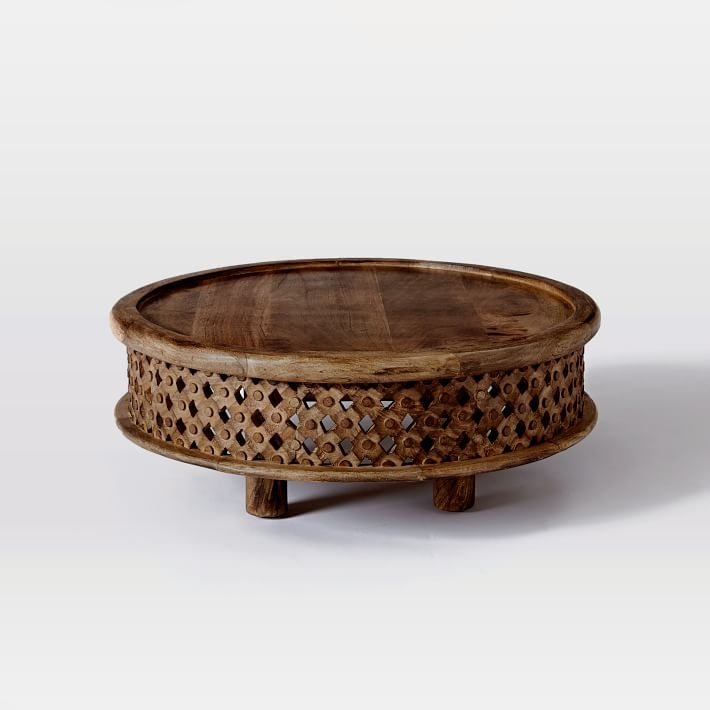 Brilliant Latest Indian Coffee Tables Throughout Carved Wood Coffee Table West Elm (Image 9 of 40)
