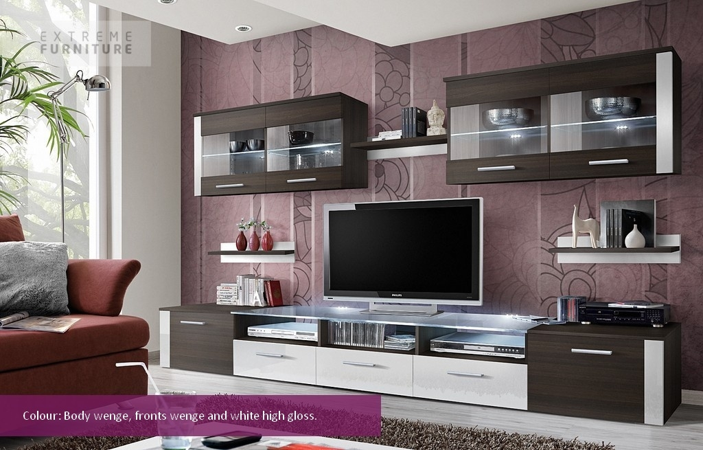 Brilliant Latest Led TV Cabinets Pertaining To Led Tv Wall Cabinet Designs Crowdbuild For (Image 10 of 50)