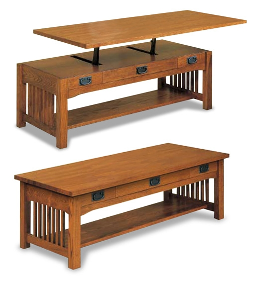 Brilliant Latest Raise Up Coffee Tables With Regard To Mission Lift Top Coffee Table Trm1011 Modern Bungalow (View 31 of 40)