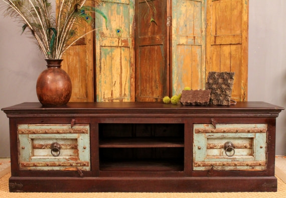 Brilliant Latest Rustic TV Stands For Sale Throughout Sale Turquoise Boho Chic Tv Stand (Image 8 of 50)