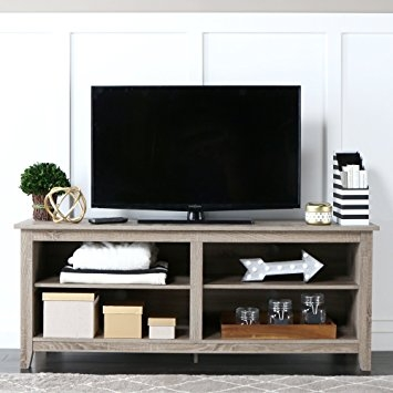 Brilliant Latest Storage TV Stands With Amazon We Furniture 58 Wood Tv Stand Storage Console (Image 10 of 50)
