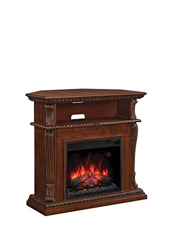 Brilliant Latest Walnut Corner TV Stands For Amazon Classicflame 23de1447 W502 Corinth Wall Or Corner Tv (Image 10 of 50)