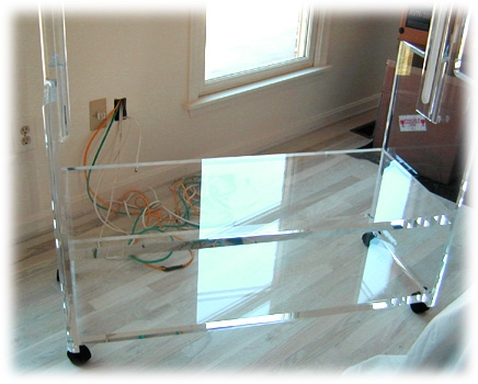 Brilliant New Acrylic TV Stands Throughout Richman Design (View 15 of 50)