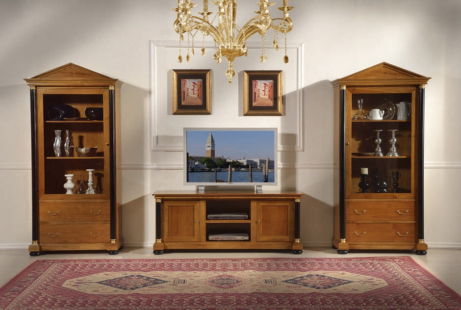 Brilliant New Classic TV Cabinets Inside Classic Tv Cabinet Wooden Empire Guerra Vanni (Image 15 of 50)