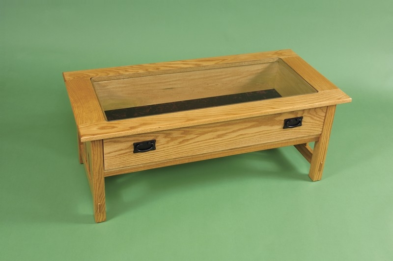 Brilliant New Coffee Tables With Glass Top Display Drawer Pertaining To Glass Top Display Coffee Table (Image 10 of 40)