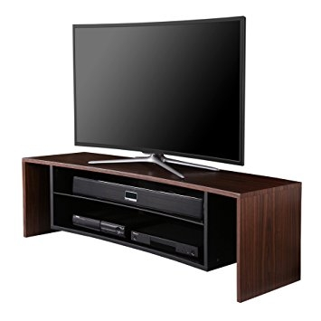 Brilliant New Curve TV Stands With Regard To Amazon Fitueyes Woodglass Curved Tv Stand Designed For Oled (View 14 of 50)