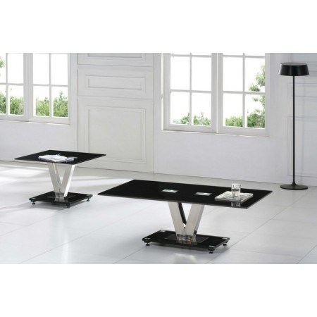 Brilliant New Glass And Black Coffee Tables Within V Range Black Glass Coffee Table 2923 Furniture In Fashion (View 41 of 50)