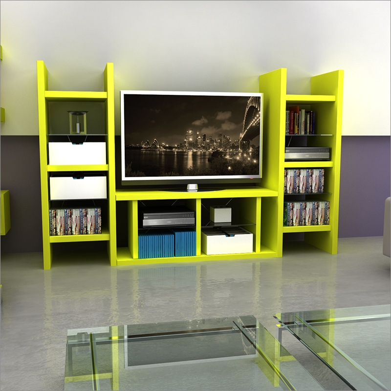 Brilliant New Green TV Stands Regarding Tv Stands Awesome Tv Stand With Media Towers 2017 Picture Black (Image 8 of 50)