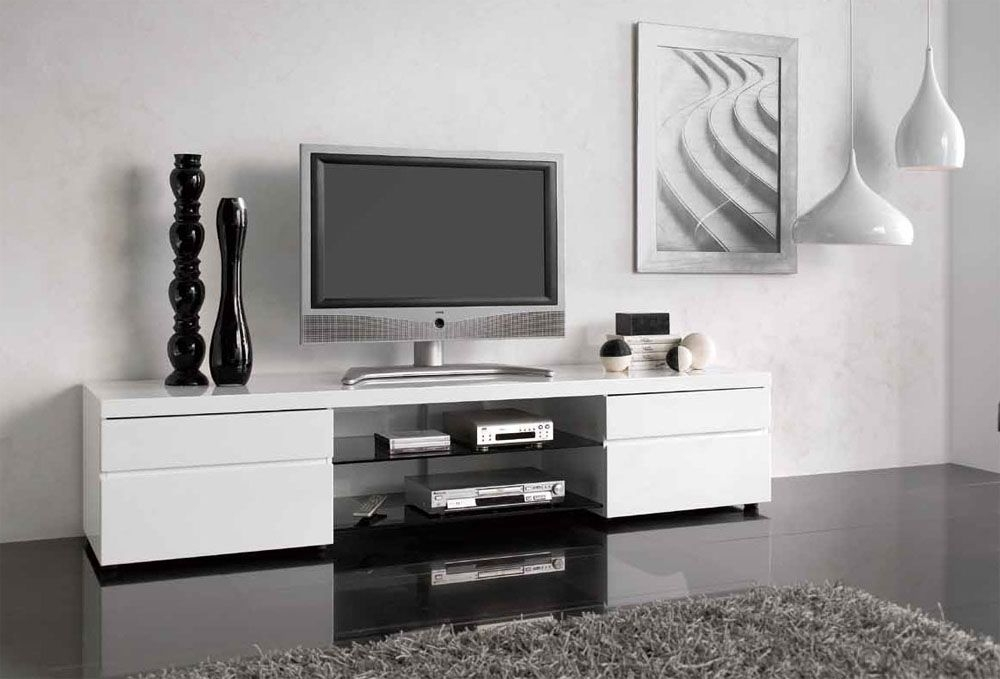 Brilliant New Modern TV Cabinets For Flat Screens Regarding Gorgeous White Tv Cabinets For Flat Screens This Modern Tv Stand (Image 12 of 50)
