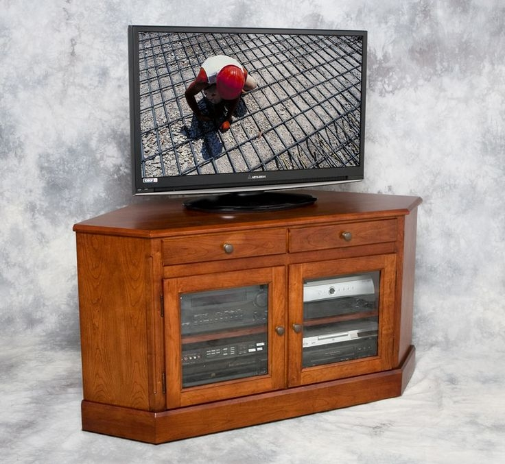 Brilliant New Real Wood Corner TV Stands With 14 Best Tv Stands Images On Pinterest Corner Tv Stands Flat (Image 12 of 50)