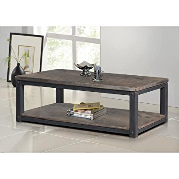 Brilliant New Rustic Coffee Table And TV Stands Pertaining To Amazon Rustic Coffee Table Industrial Entertainment Center (Image 12 of 50)