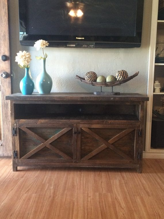 Brilliant New Rustic Looking TV Stands Within Best 10 Unique Tv Stands Ideas On Pinterest Studio Apartment (Image 12 of 50)