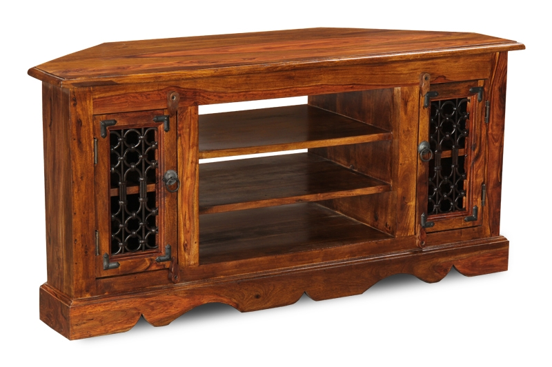 Brilliant New Sheesham Wood TV Stands For Jali Corner Tv Unit Trade Furniture Company (View 8 of 50)